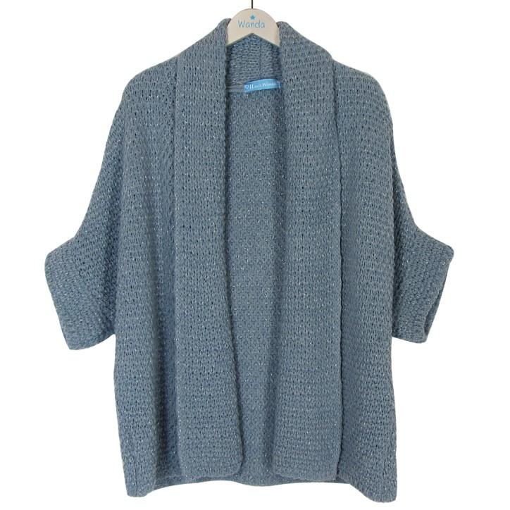 chaqueta de punto azul wanda